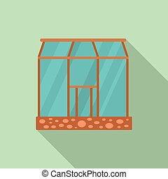 Glasshouse icon, flat style - Glasshouse icon. Flat ...