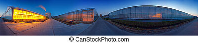 Glasshouse panorama - A seamless 360 degree panoramic image...