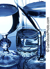 Glassware - Close-up of a glassware set with water
