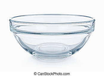 Glassware. Empty salad bowl on a white background