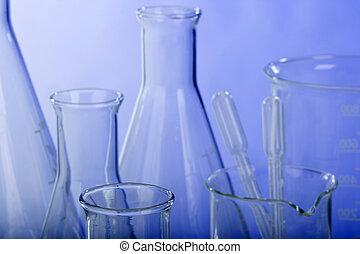 glassware, forsk laboratorium., sorteret
