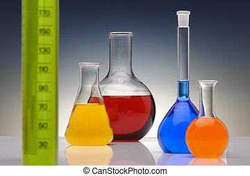 chemical laboratory - glassware in chemical laboratory