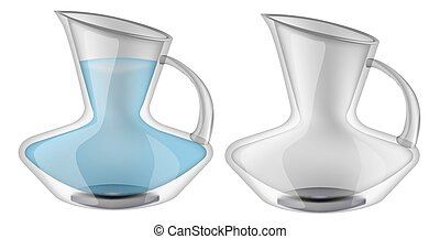 Glassware, jug. Decorative household items