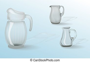 Glassware, jug, glass, cup. Decorative household items