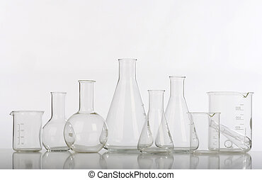 glassware, pesquise laboratório, sortido