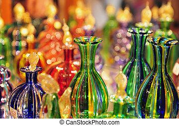 glasswork, sur, murano, île, italie