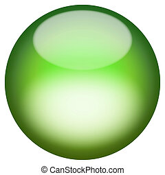 Glassy 3D Button - A 3d sphere isolated over white for ...