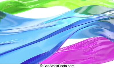 glassy flow alpha channel loop - Stock Footage Clip: 3...