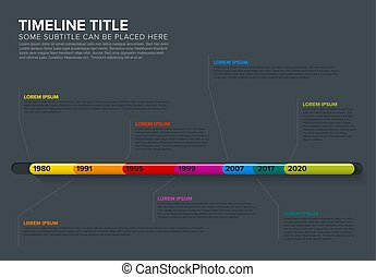 Glassy Infographic Timeline Template - Vector Infographic...