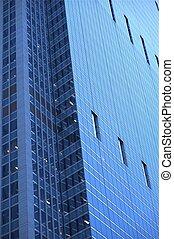 Glassy Skyscraper - Modern American Architecture. Chicago...