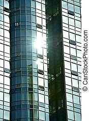 Glassy Skyscraper Walls. Architecture Photo Collection.