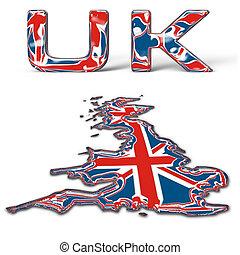 UK - Glassy UK text
