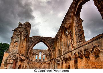 Glastonbury Abbey - famous abbey in Great Britain