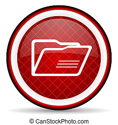 glatt, bakgrund, mapp, vit röd, ikon