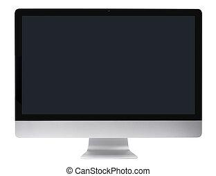 glatt, dataskærm, computer pc.