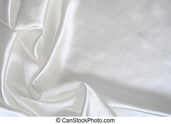glatt, elegant, weißes, seide, als, wedding, hintergrund