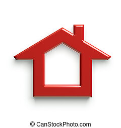 glatt, house., shinny, röd, 3