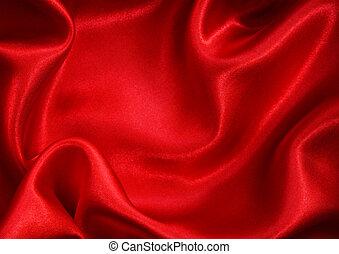 glatt, rote seide, als, hintergrund