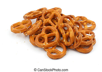 glazed and salted pretzels
