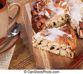 Glazed Streusel Coffee Cake - Glazed streusel coffee cake on...
