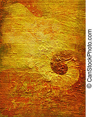 glazes on gold structure