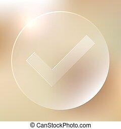 glazig, aanvaarden, pictogram