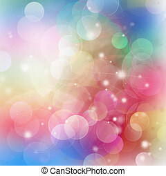 Gleaming multicolored festive background with bokeh bubbles
