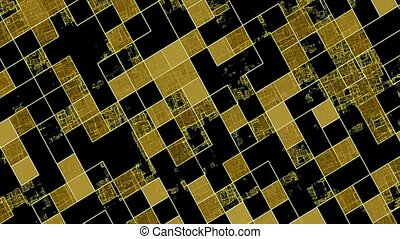 Gleaming squares in yellow and black