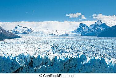 gleccser, argentína, perito, moreno, patagonia
