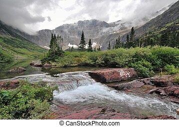 gleccser, nemzeti, montana, liget