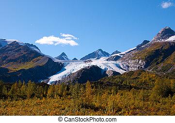 gleccser, worthington, alaszka