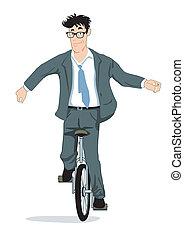 gleichgewicht, auf, a, unicycle