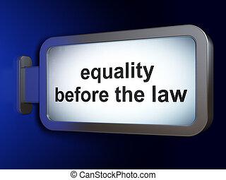 gleichheit, hintergrund, werbewand, politik, gesetz, concept:, vorher