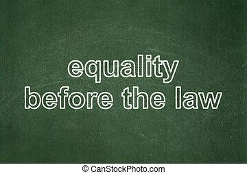 gleichheit, tafel, hintergrund, politik, gesetz, concept:, vorher