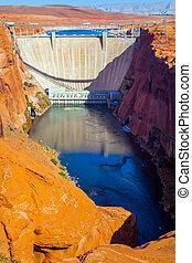 Glen Canyon Dam across the Colorado
