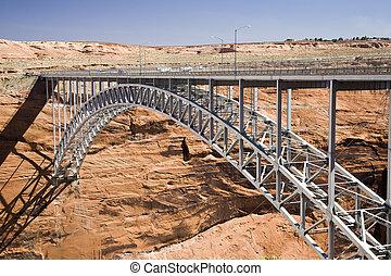 Glen Canyon Dam Bridge - Glen Canyon Dam bridge in Arizona...