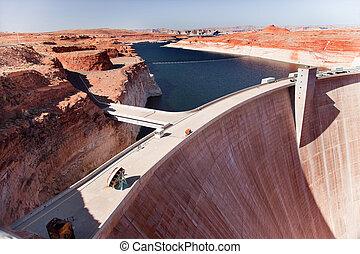 Glen Canyon Dam Lake Powell Arizona