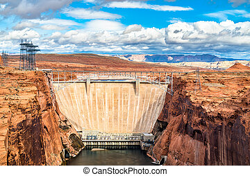 Glen Canyon Dam on the Colorado River in Arizona