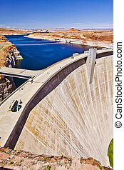 Glen canyon Hydro Electric Dam and Lake Powell