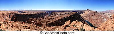 panorama of Glen Canyon in Northern Arizona