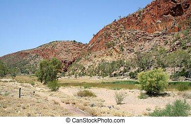 Glen Helen Gorge - A dry Glen Helen Gorge in Central...