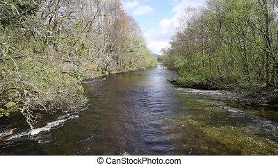 Glen Luss river Scotland uk feeding into Loch Lomond UK...