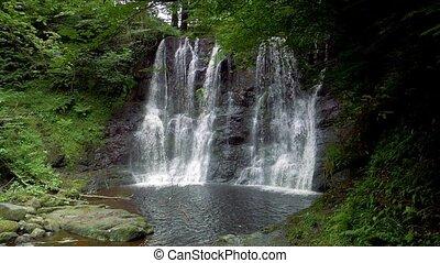 glenariff, wasserfall, nordirland, -, eingestuft, version,...