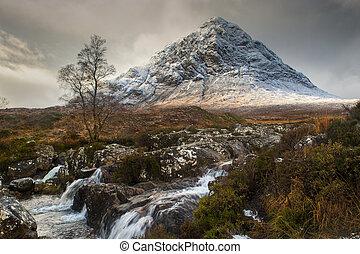 Glencoe in Winter - The mountain is Buachaille Etive Mor...