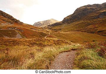 glencoe, octobre, ecosse, royaume-uni, pays montagne écossaiss