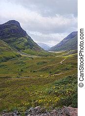 Glencoe Portrait Scotland - Glencoe in the Highlands of...