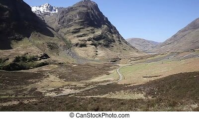 Glencoe Valley Scotland UK famous Scottish glen with...