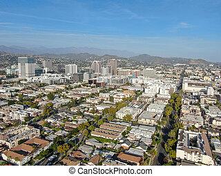 glendale, アンジェルという名前の人たち, 航空写真, 都市眺め, los, ダウンタウンに
