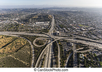 Glendale and Ventura Freeways Interchange in Los Angeles