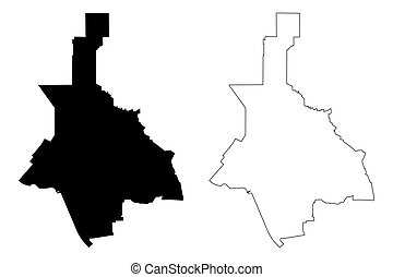 Glendale City (United States cities, United States of America, usa city) map vector illustration, scribble sketch Glendale map